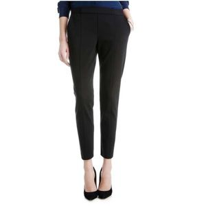 Black Seam Front Ankle Length Pants - Small